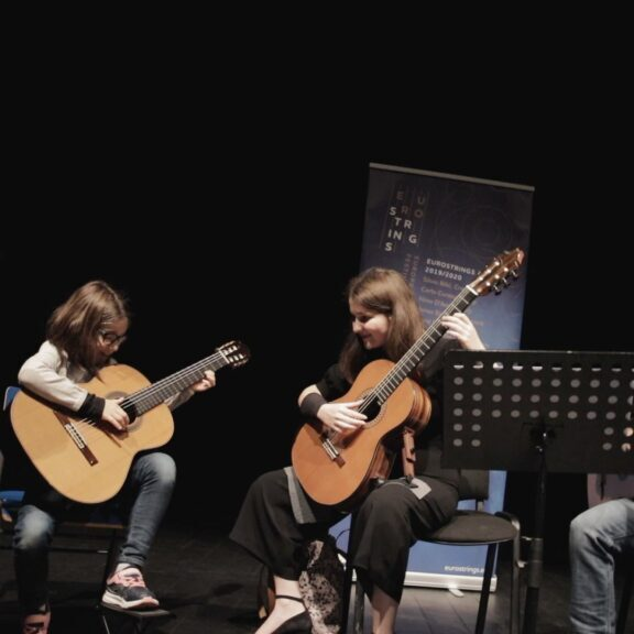 Masterclasses given to young pupils at Guimaraes Guitar Festival 2020