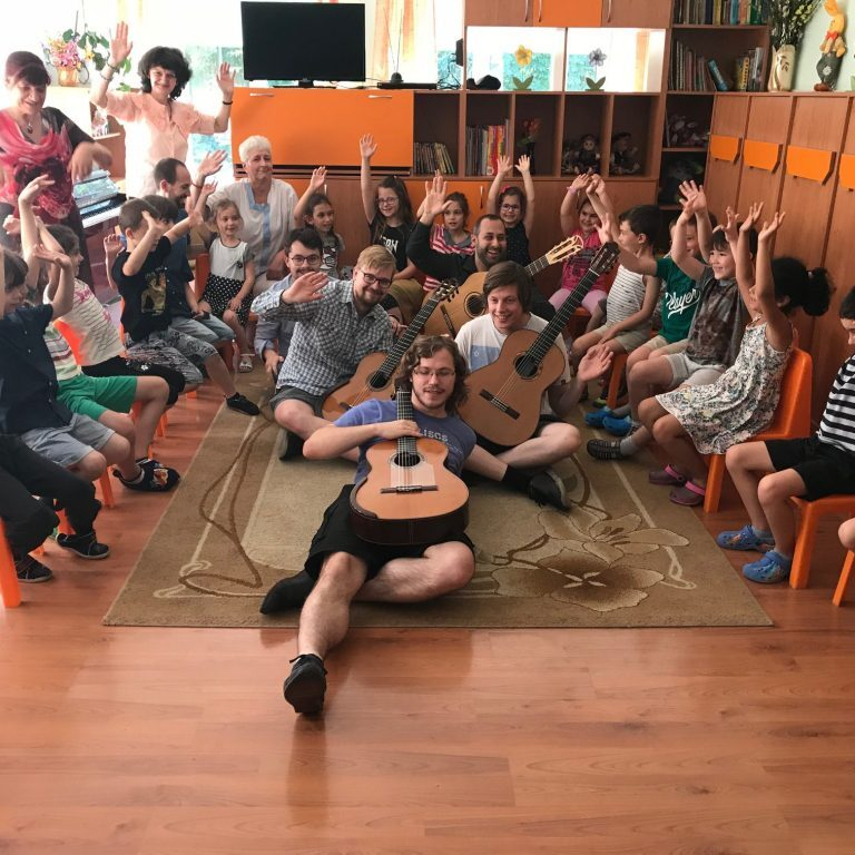Masterclasses with pupils at Plovdiv GuitArt Festival 2018