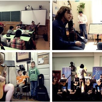 Masterclasses for young children at 2018 Szeged Guitar Festival